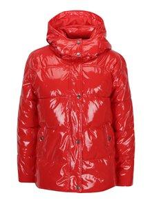 Červená lesklá zimná bunda s odnímateľnou kapucňou Noisy May Snipe