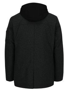 Palton gri inchis cu aspect 2in1 din amestec de lana  s.Oliver