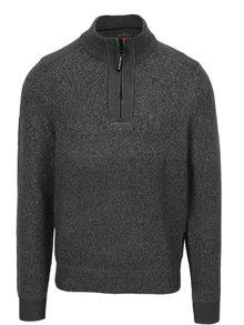 Sivý pánsky melírovaný sveter so stojačikom s.Oliver