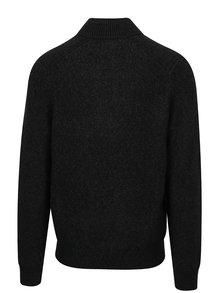 Tmavosivý pánsky melírovaný sveter s.Oliver