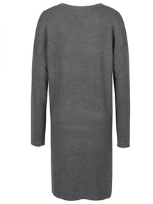 Šedé šaty s flitry ve tvaru hvězdy QS by s.Oliver