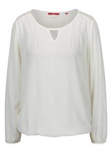 Bluza lejera crem cu model discret -  s.Oliver