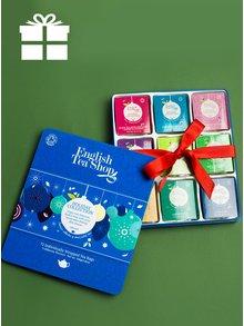 Modrá plechová dárková kazeta čajů English Tea Shop Ozdoby