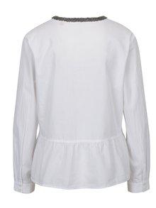 Biela dámska košeľa s korálkami na golieriku s.Oliver