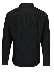 Tmavě šedá pánská džínová slim fit košile s.Oliver