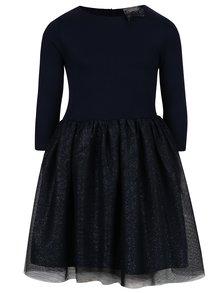 Tmavě modré holčičí šaty se třpytivou tylovou sukní 5.10.15.