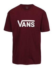 Vínové pánské tričko s potiskem VANS Classic