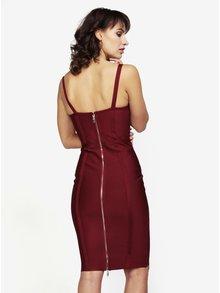 Vínové šaty so šnurovaním MISSGUIDED