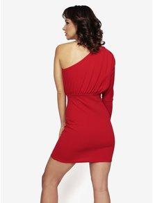 Červené asymetrické šaty MISSGUIDED