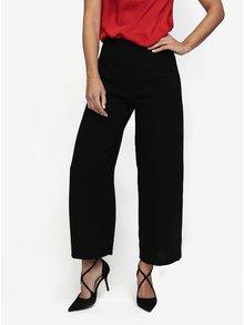 Černé culottes kalhoty s vysokým pasem MISSGUIDED