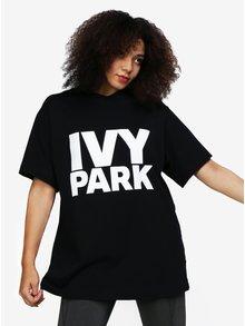 Černé oversize tričko s potiskem Ivy Park