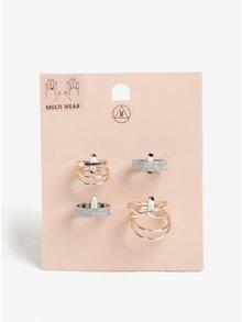 Sada šesti prstýnků ve stříbrné a zlaté barvě MISSGUIDED
