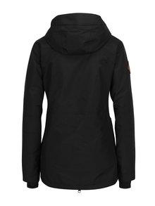 Čierna dámska nepremokavá zimná bunda s kapucňou NUGGET Anja