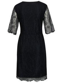 Tmavomodré šaty s priesvitnými rukávmi VILA Ambera