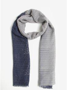 Tmavě modrý vzorovaný šátek ZOOT