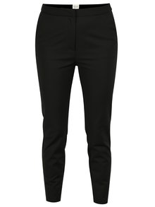 Pantaloni slim fit negri cu fermoare decorative - VILA Killa