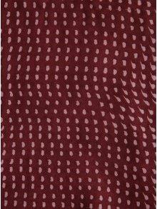 Esarfa subtire bordo&roz cu franjuri scurte ZOOT