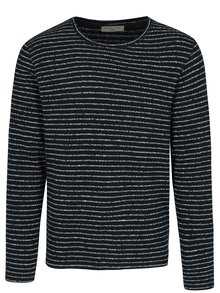 Tmavomodrý pruhovaný sveter Selected Homme Alton