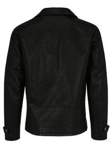 Čierna koženková bunda ONLY & SONS Karter