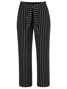 Čierno-biele pruhované nohavice Miss Selfridge Petites