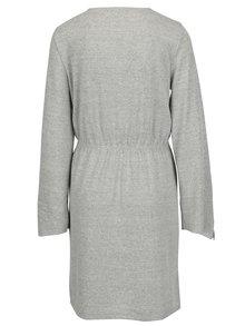 Svetlosivé voľné melírované šaty VERO MODA Naturall