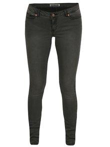Šedé super slim džíny s nízkým pasem Noisy May Eve