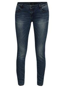 Modré slim džíny s vyšisovaným efektem VERO MODA Five