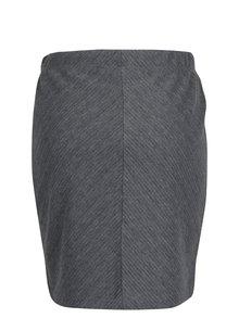 Sivá sukňa s pružným pásom VERO MODA Mona