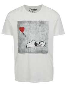 Krémové tričko s potiskem Jack & Jones Snoop