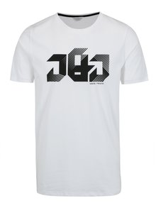 Bílé tričko s potiskem Jack & Jones Bass