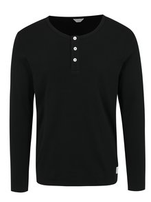 Bluza neagra cu nasturi  Jack & Jones Placket