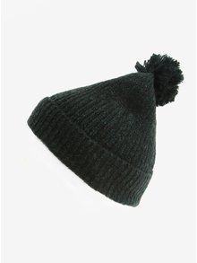 Zelená melírovaná čiapka s brmbolcom Burton Menswear London