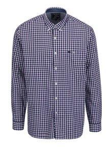 Bielo-fialová kockovaná košeľa s náprsným vreckom Raging Bull