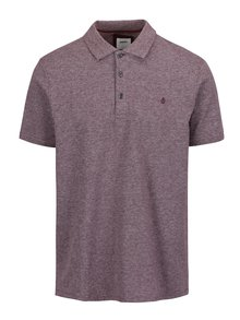 Tricou polo bordo melanj cu broderie  Burton Menswear London