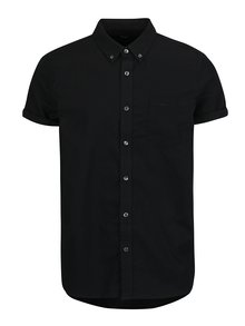 Camasa neagra cu guler buttons-down Burton Menswear London