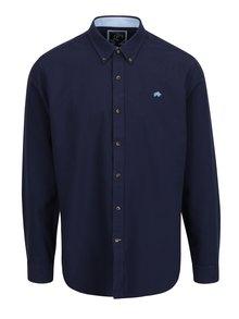 Camasa bleumarin cu guler buttons-down si logo brodat Raging Bull