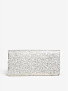 Dámska kožená trblietavá peňaženka v striebornej farbe ELEGA Amina