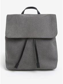 Sivý dámsky kožený batoh ELEGA Glitter
