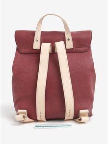 Vínový dámsky kožený batoh ELEGA Glitter