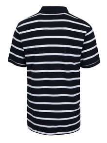 Bílo-modré pruhované polo tričko Raging Bull