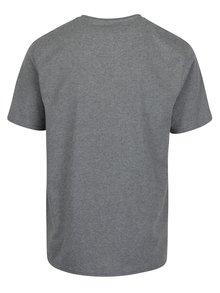 Sivé tričko s výšivkou loga Raging Bull