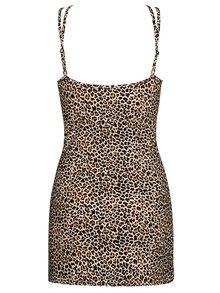 Set béžové noční košilky a tang s leopardím vzorem Obsessive Jungirl chemise