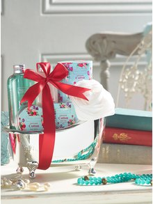 Osemdielna darčeková kozmetická súprava s vôňou bavlny Winter in Venice Vintage Cotton