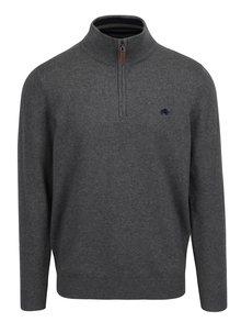 Tmavosivý sveter na zips Raging Bull