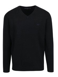 Čierny sveter s véčkovým výstrihom Raging Bull