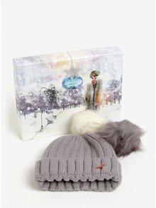 Sivá dámska čiapka s odnímateľnými brmbolcami Something Special