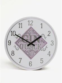 Krémovo-ružové nástenné hodiny SIFCON GIN 30x30