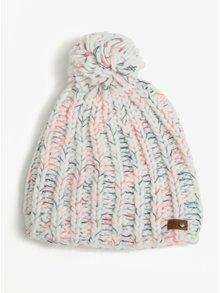 Biela dámska pletená čiapka s brmbolcom Roxy Nola