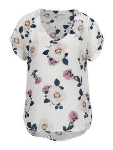 Bluza crem asimetrica cu print floral - Haily´s Alea