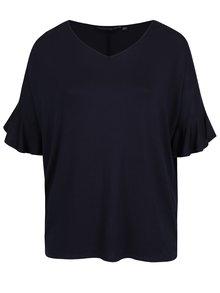 Tmavě modré tričko s véčkovým výstřihem Dorothy Perkins Curve